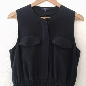 Madewell Black Skater Dress Size M